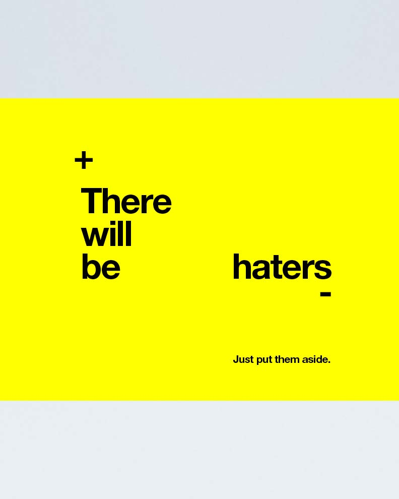 """""""ThereWill Be Haters"""" (Дизайн плаката)"""