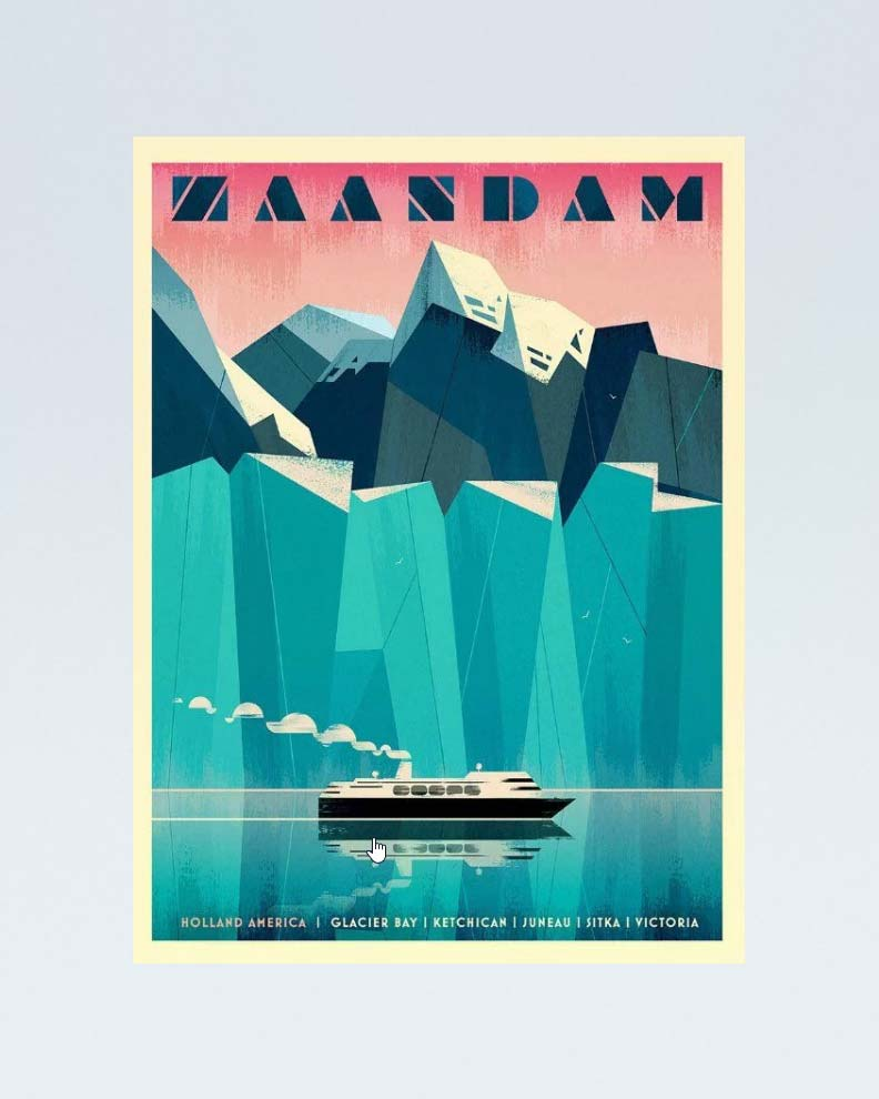 """""""Glacier Bay Alaska"""" (Дизайн тревел-постера)"""