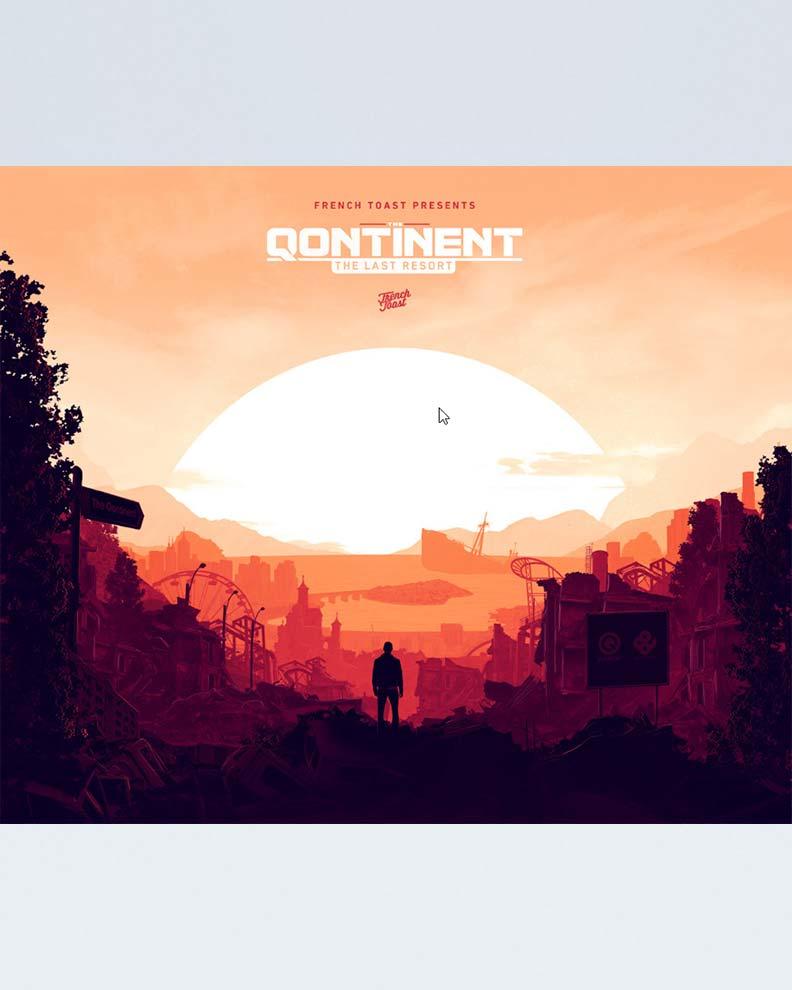 """""""The Qontinent"""" (Дизайн постера для фестиваля)"""