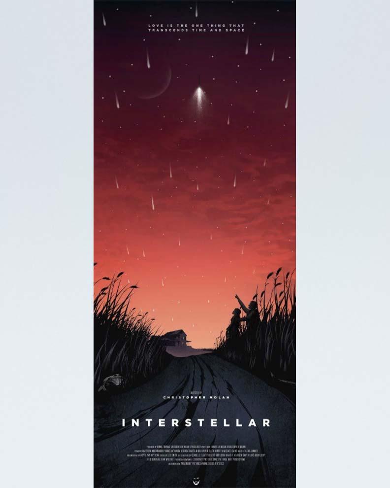 """""""Interstellar"""" (Дизайн постера для космического блокбастера)"""