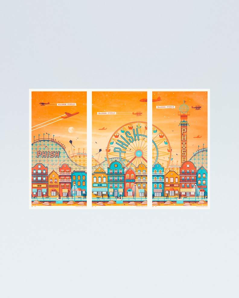 """""""Phish Atlantic City"""" (Дизайн постера для музыкального концерта)"""
