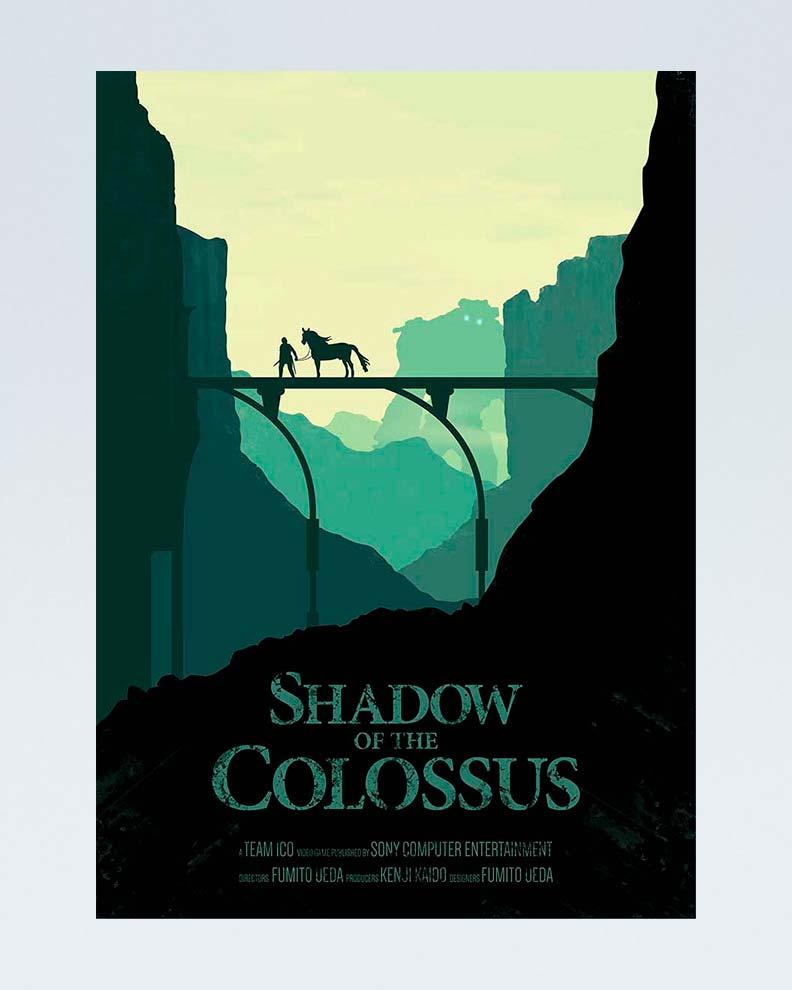 """Shadow of the Colossus""(Дизайн постера для компьютерной игры)"