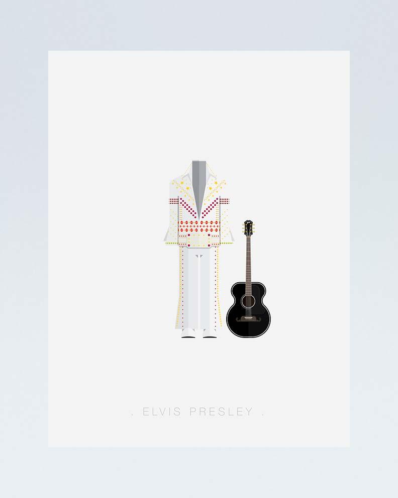 """""""Elvis Presley"""" (Дизайн минималистического постера)"""
