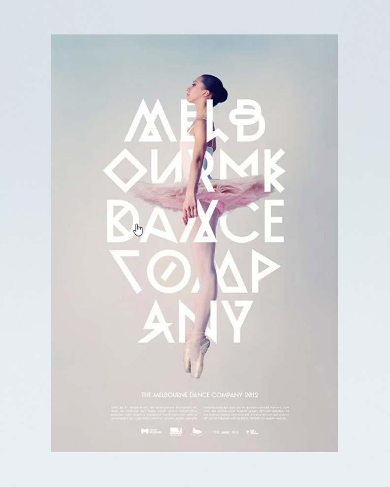 """Melbourne Dance Company"" (Дизайн рекламного постера)"