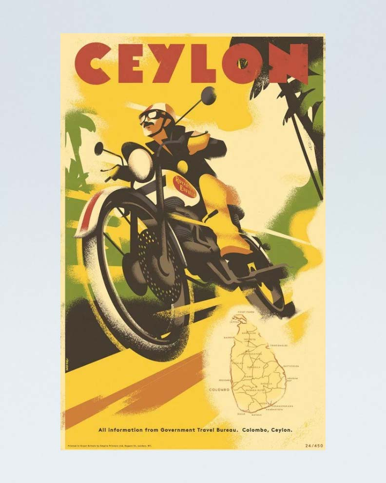 """Ceylon"" (Дизайн постера про путешествия)"