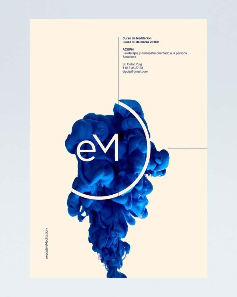 """""""Executive Meditation"""" (Дизайн рекламного постера)"""