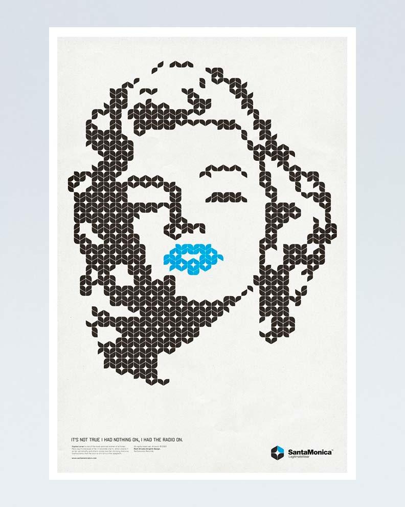 """""""Star Grid Marilyn"""" (Дизайн постера)"""
