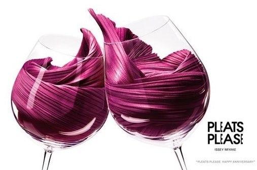 Текстильное вино в бокалах