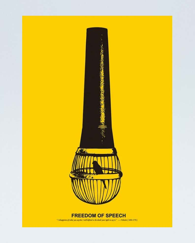 """""""Freedom of Speech"""" (Дизайн социального постера)"""