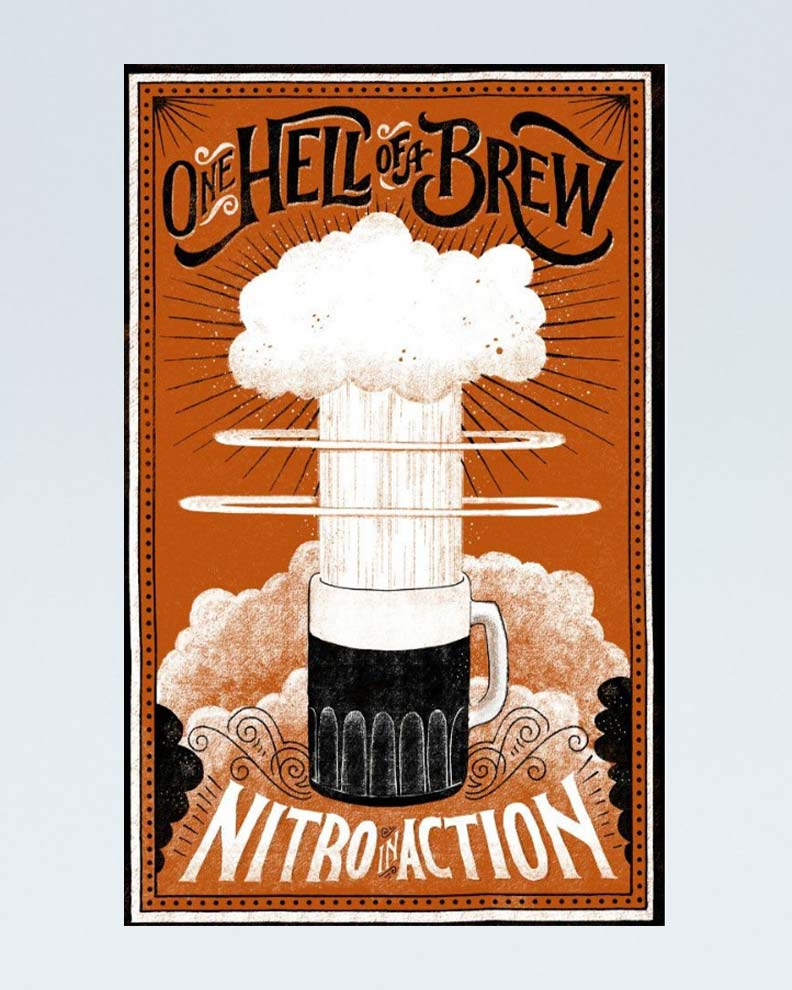 """""""One Hell of a Brew"""" (Дизайн плаката)"""