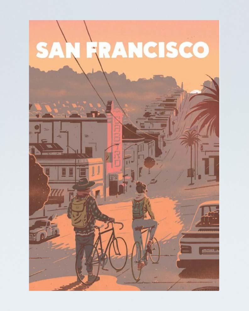 """San Francisco"" (Дизайн ретро-плаката)"