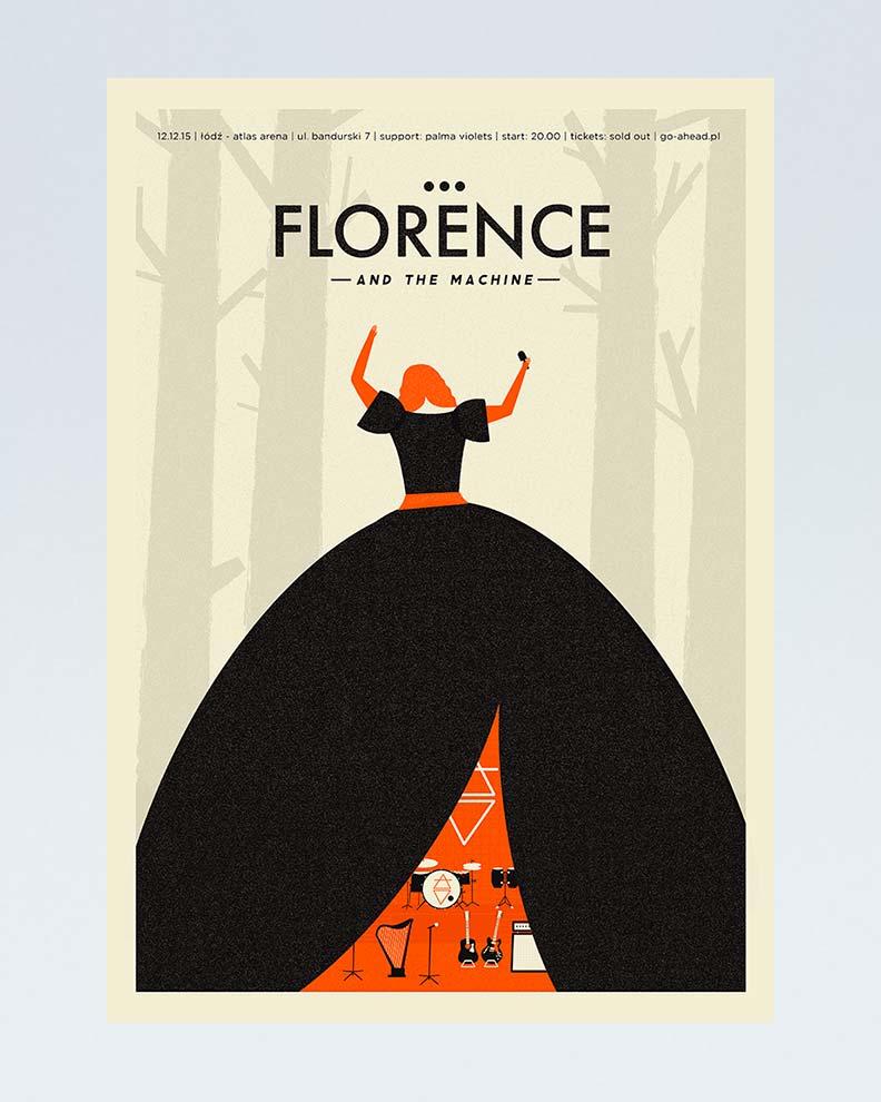 """""""Florence and the Machine"""" (Дизайн постера для знаменитой инди-группы)"""