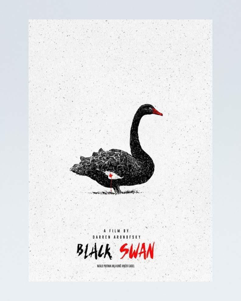 """""""Black Swan"""" (Дизайн постера для драматического фильма)"""