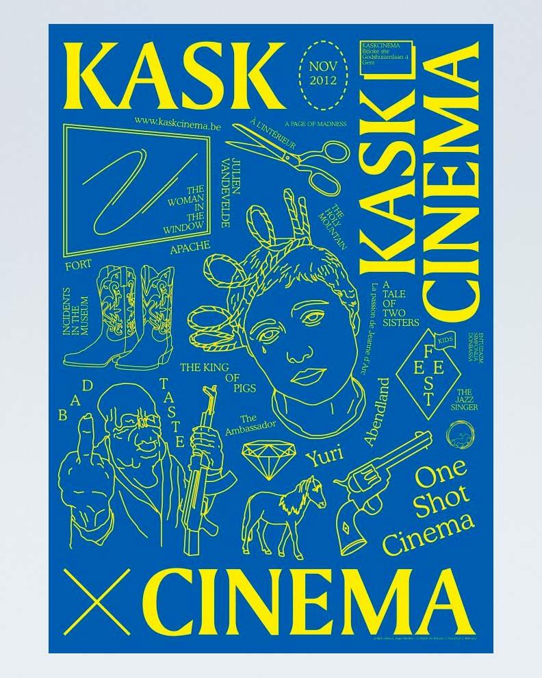 """KASK Cinema 2012"" (Дизайн плаката для кинофестиваля)"
