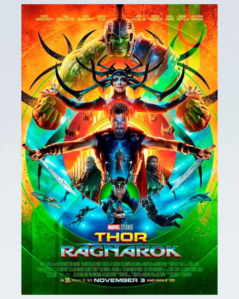 """""""Thor: Ragnarok"""" (Дизайн постера для фильма Marvel)"""