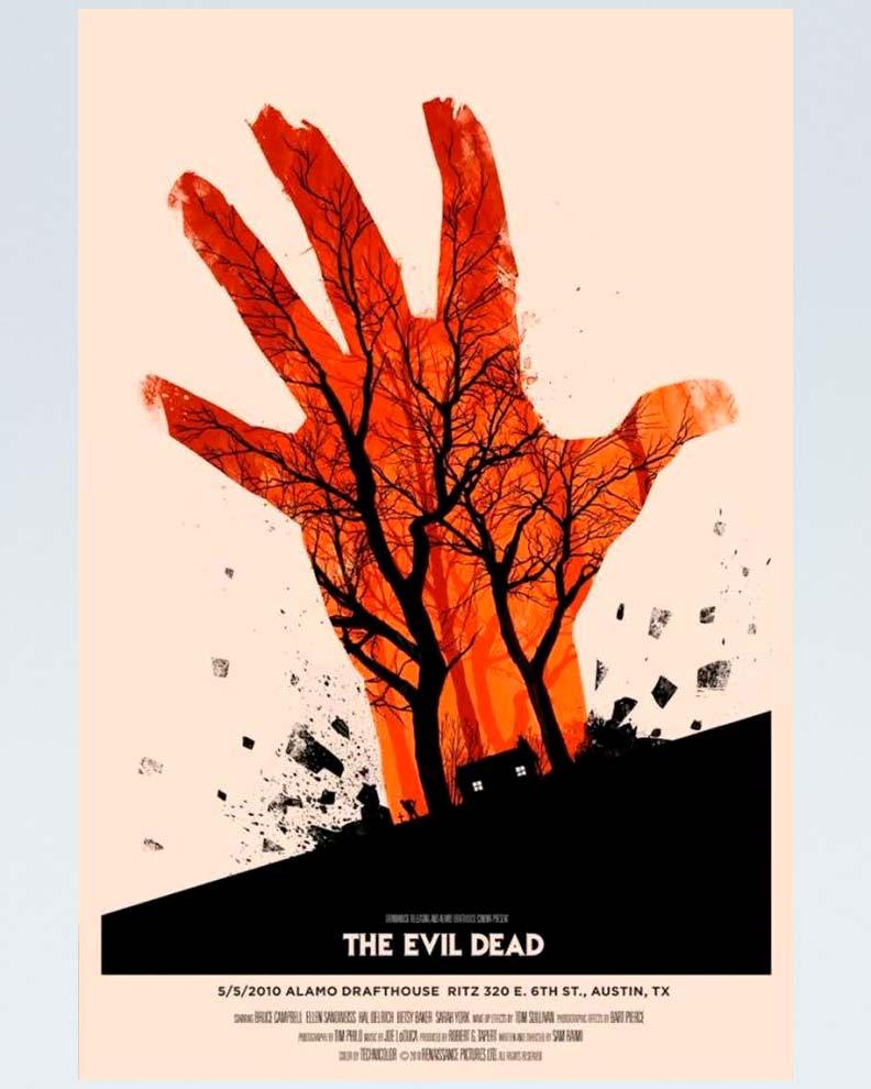 """""""The Evil Dead"""" (Дизайн постера для фильма ужасов)"""