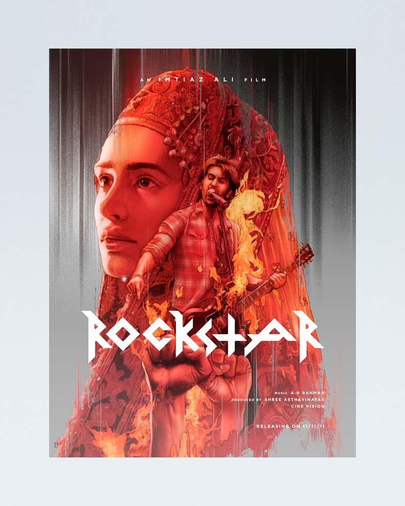 """""""Rockstar"""" (Дизайн постера для болливудского фильма)"""