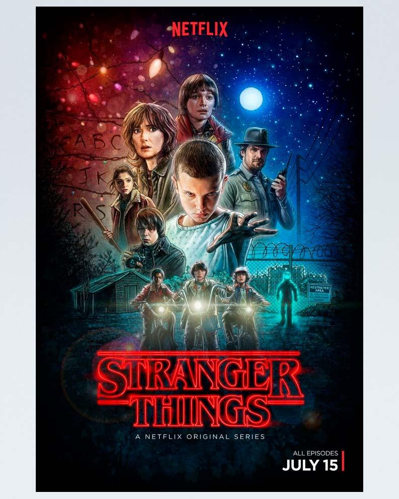 """Stranger Things "" (Дизайн плаката для сериала Netflix)"