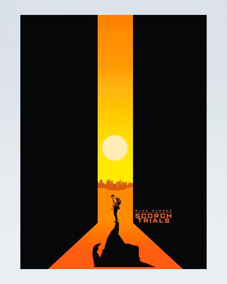 """Maze Runner: Scorch Trials"" (Дизайн постера для фантастического фильма)"