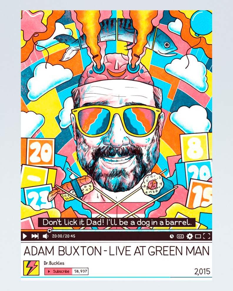 """""""Green Man"""" (Дизайн постера для фестиваля)"""