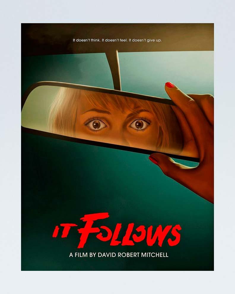 """""""It Follows"""" (Дизайн постера для фильма ужасов)"""