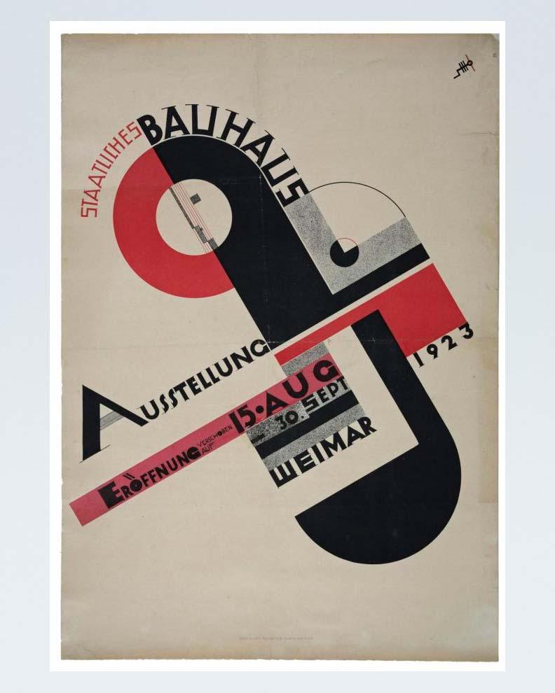 """""""1923 Bauhaus Exhibition in Weimar"""" (Дизайн плаката для фестиваля)"""