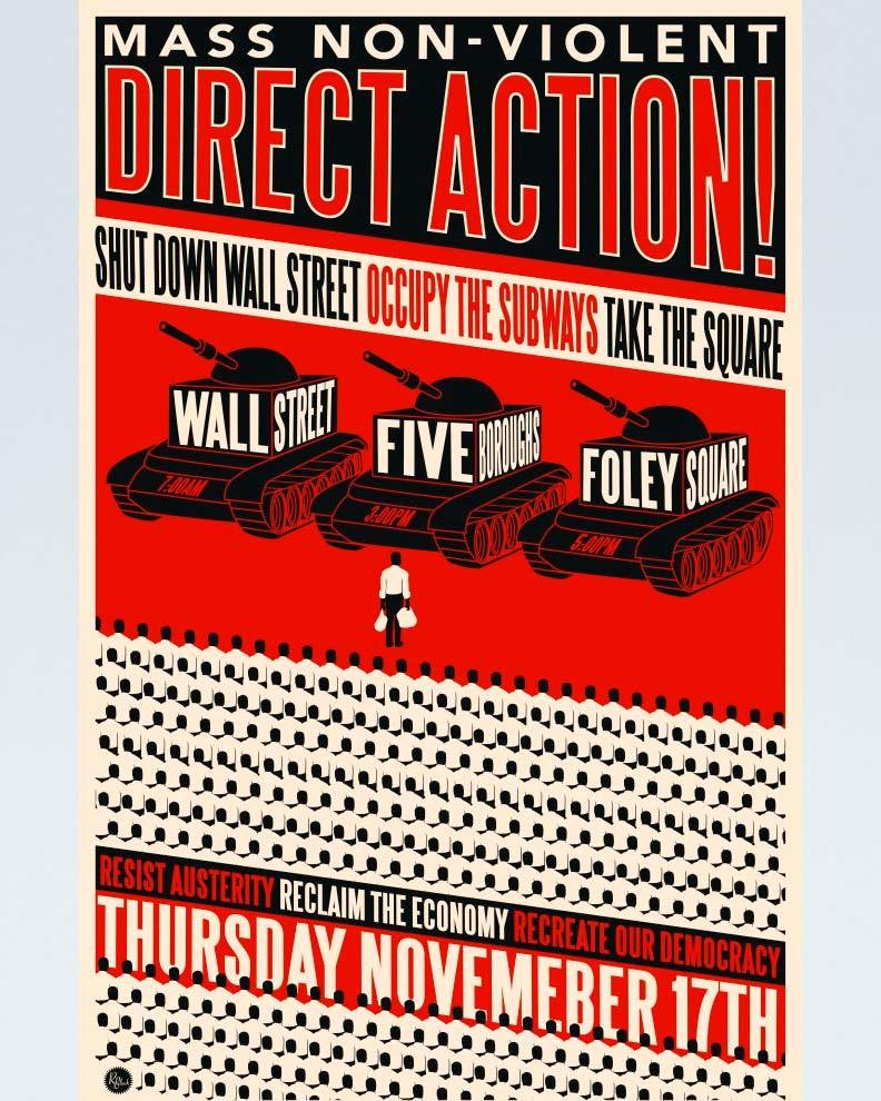 """""""Mass Non-Violent Direct Action"""" (Дизайн социального постера)"""
