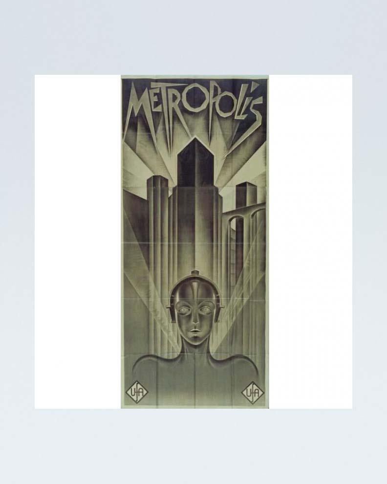 """""""Metropolis"""" (Дизайн постера для ретро-фильма)"""