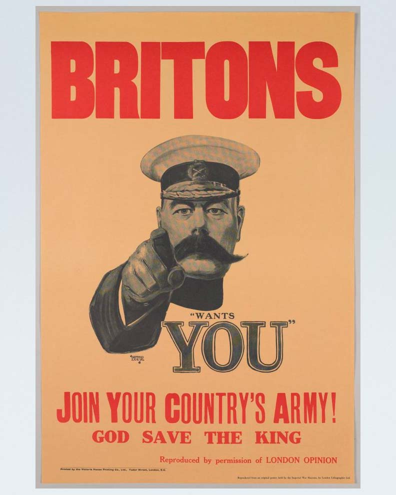 """Lord Kitchener Wants You"" (Дизайн пропагандистского постера)"