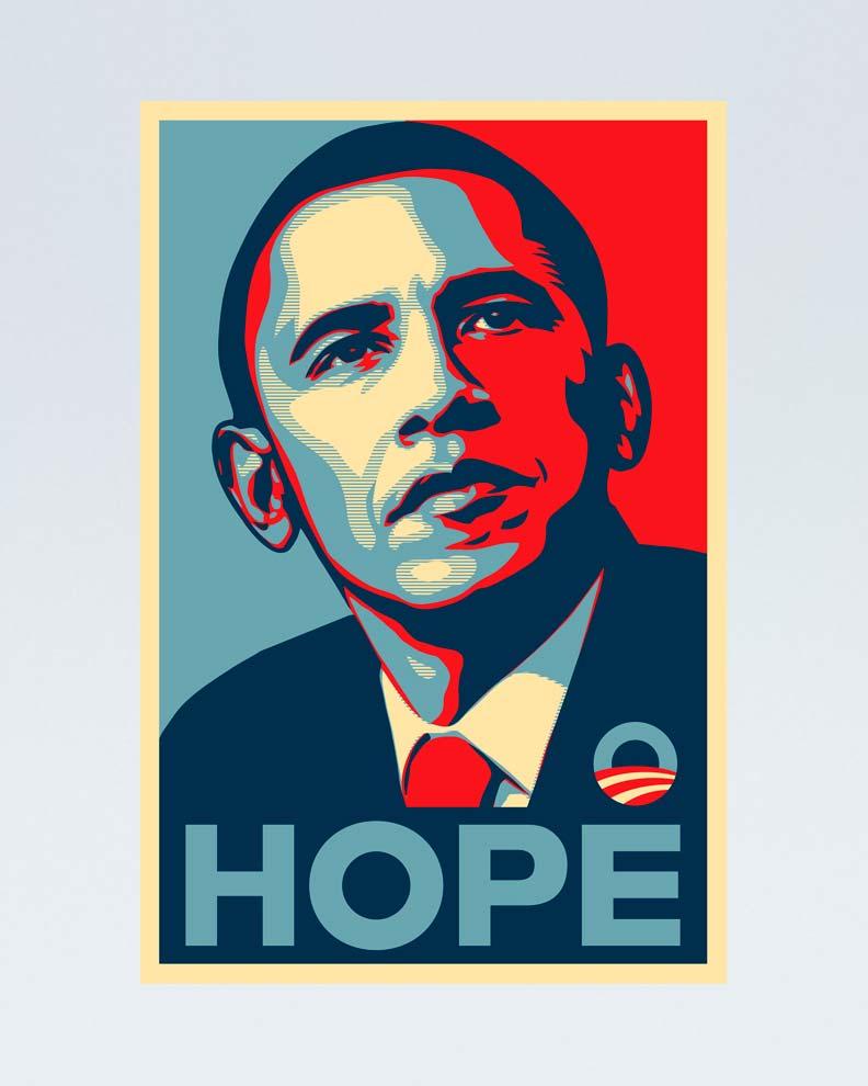"""""""Barack Obama 'Hope' poster"""" (Дизайн политического постера)"""