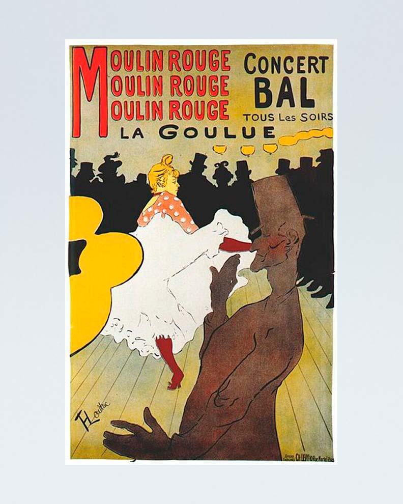 """""""Moulin Rouge"""" (Дизайн рекламного плаката)"""