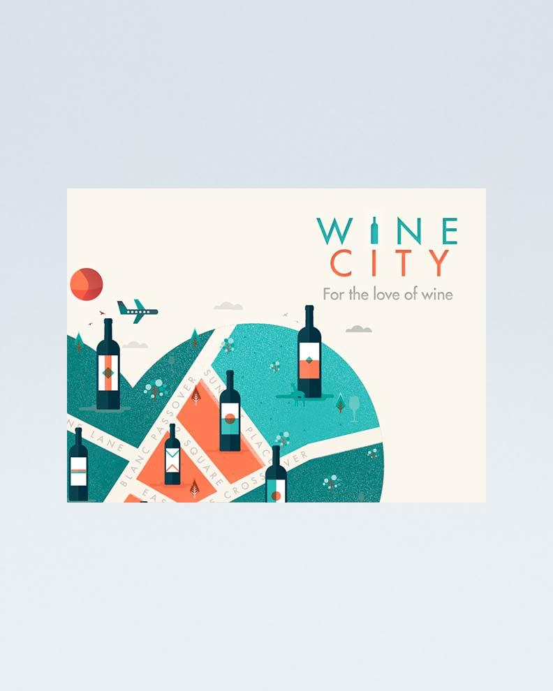 """""""Wine City"""" (Дизайн плаката)"""
