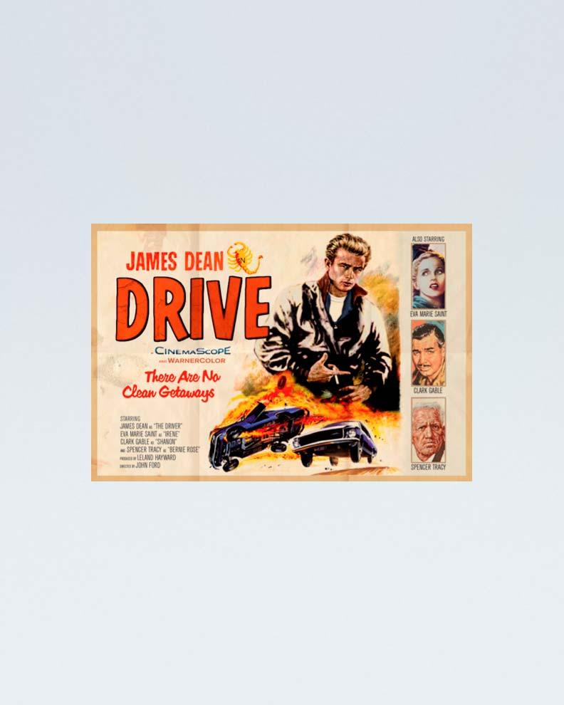 """Drive"" (Дизайн ретро-постера)"