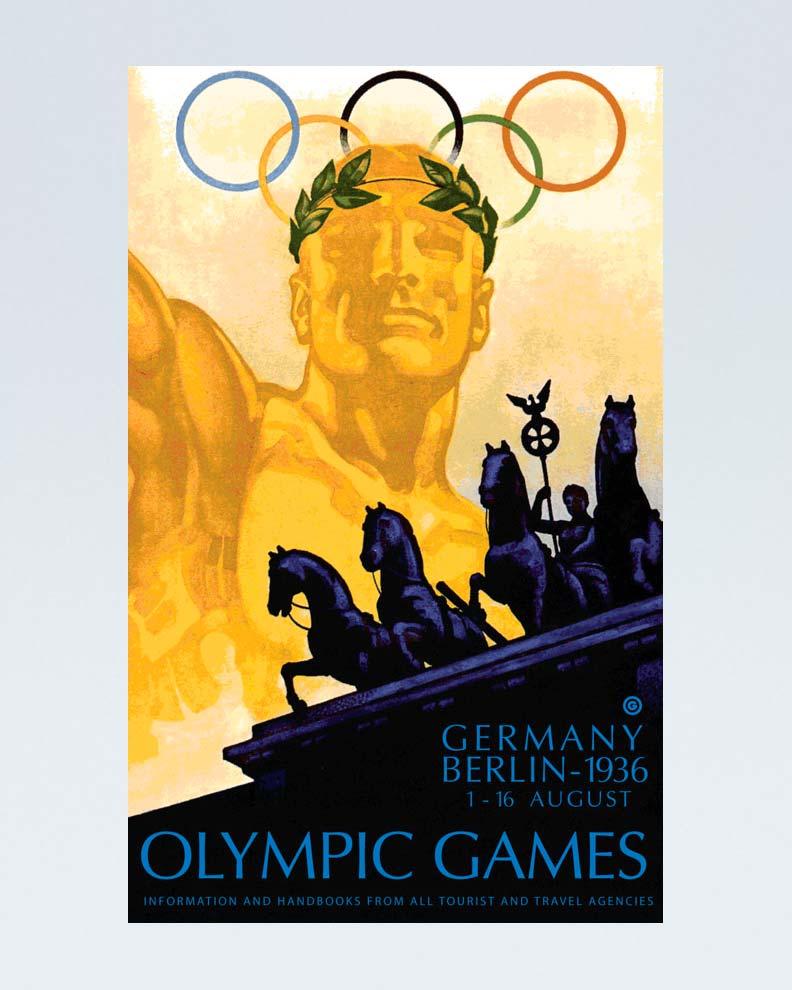 """""""Berlin 1936 Olympic Games"""" (Дизайн спортивного постера)"""