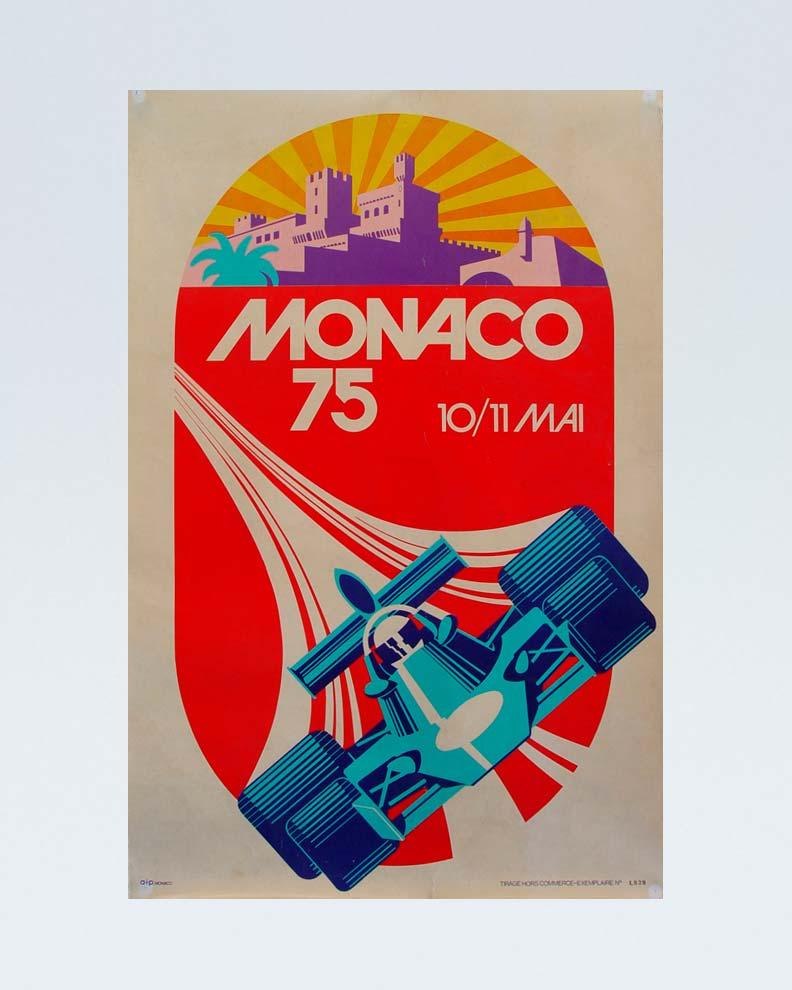 """Monaco 75"" (Дизайн спортивного плаката)"