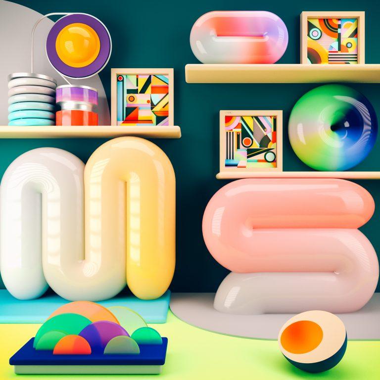 Дизайн комнаты в яркой раскраске
