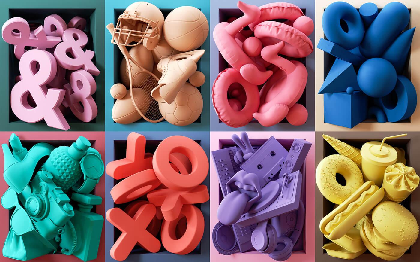 3D изображение дизайнера Ben Fearnley