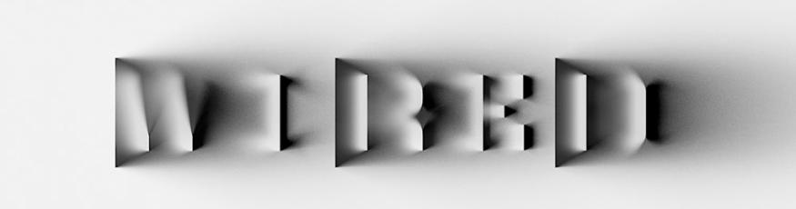 3Д типография с тенями