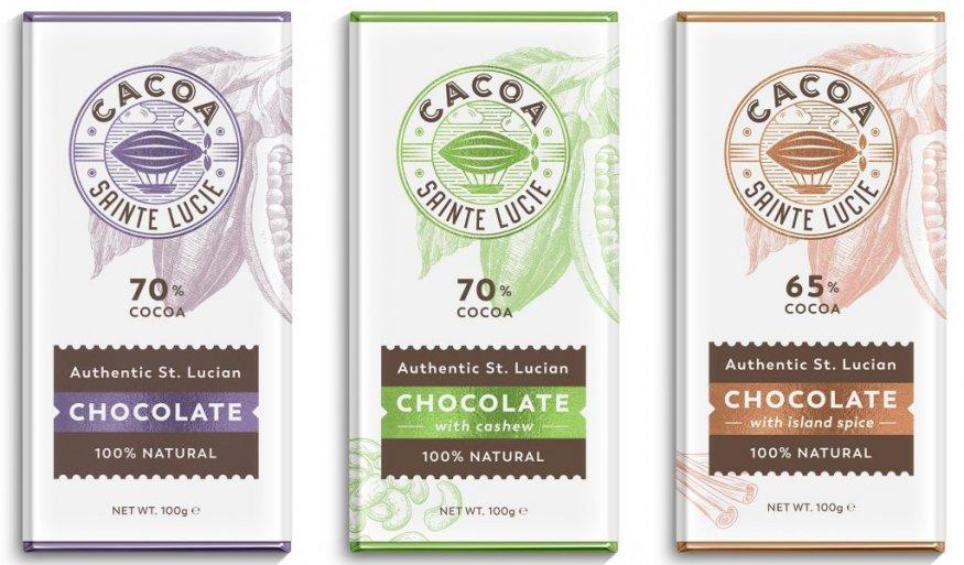 Упаковка шоколадки 3 вкусов