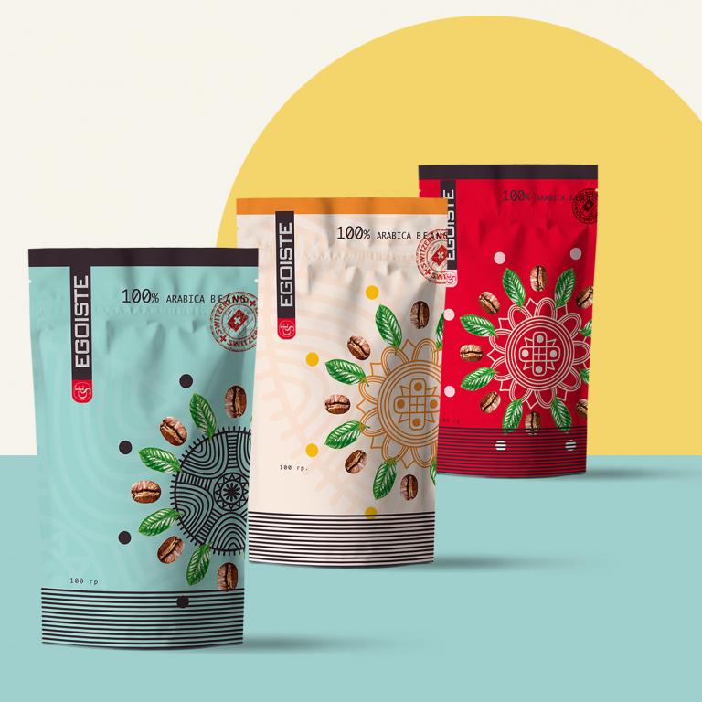 Дизайн упаковки кофе с логотипом