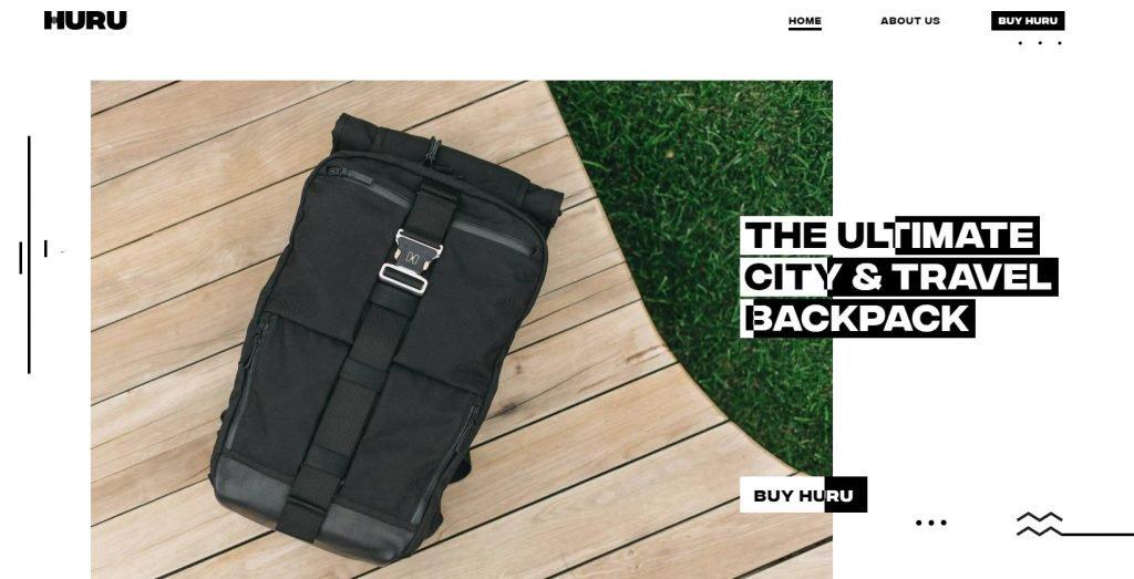 Типография с фоном в рекламе сумки