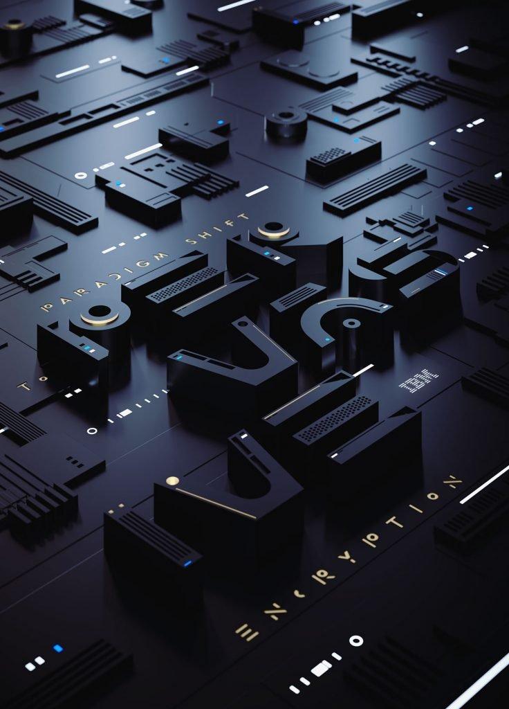 Трехмерная типография от sawdust