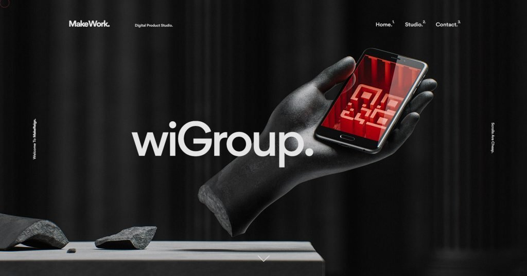 Дизайн сайта в 3Д