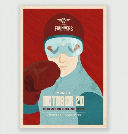 Боксерский плакат ретро времен