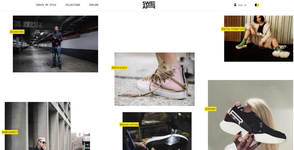 Веб-сайт, который использует текст на фоне