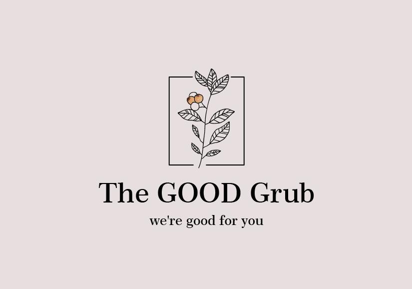 Логотип ресторана на пастельном фоне