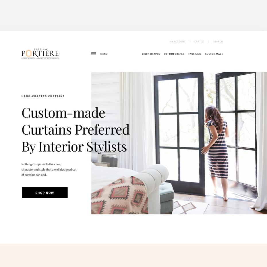Легкий веб-дизайн с авторским текстом