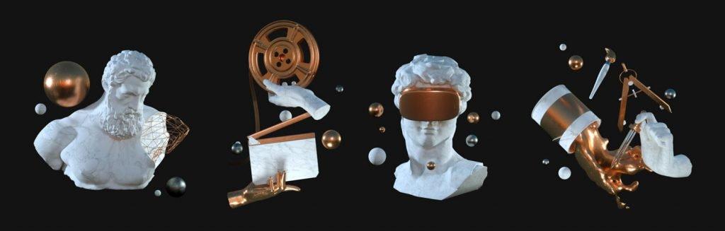 3D элементы дизайна веб-сайта