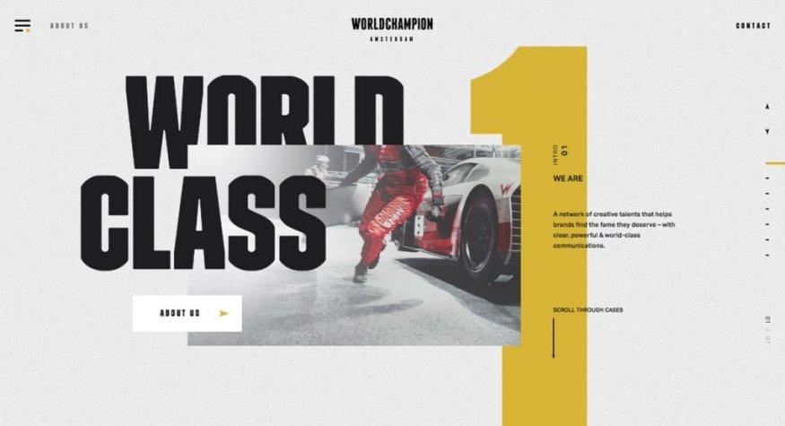 Дизайн сайта World Champion