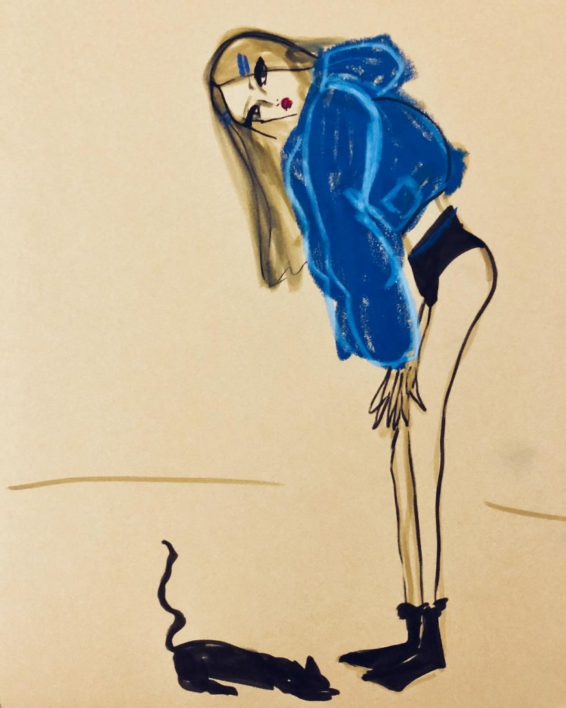 @blairz - Blue puffer coat